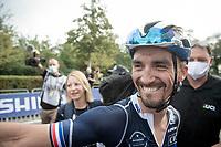 Julian Alaphilippe's (FRA/Deceuninck - Quick Step) first emotions post-race<br /> <br /> Elite Men World Championships - Road Race<br /> from Antwerp to Leuven (268.3km)<br /> <br /> UCI Road World Championships - Flanders Belgium 2021<br /> <br /> ©kramon