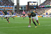 JP Pietersen of South Africa touches down for a try during Match 15 of the Rugby World Cup 2015 between South Africa and Samoa - 26/09/2015 - Villa Park, Birmingham<br /> Mandatory Credit: Rob Munro/Stewart Communications