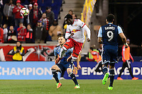 Harrison, NJ - Wednesday Feb. 22, 2017: Derrick Etienne Jr. during a Scotiabank CONCACAF Champions League quarterfinal match between the New York Red Bulls and the Vancouver Whitecaps FC at Red Bull Arena.