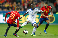 Spain's Jordi Alba (l) and Vitolo (r) and Israel's Eli Dasa during FIFA World Cup 2018 Qualifying Round match. March 24,2017.(ALTERPHOTOS/Acero) /NortePhoto.com