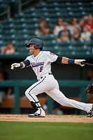 Jacksonville Jumbo Shrimp Bryson Brigman (6) at bat during a Southern League game against the Mobile BayBears on May 28, 2019 at Baseball Grounds of Jacksonville in Jacksonville, Florida.  Mobile defeated Jacksonville 2-1.  (Mike Janes/Four Seam Images)