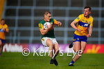Stephen O'Brien, Kerry, in action against Emmet McMahon, Clare, during the Munster Football Championship game between Kerry and Clare at Fitzgerald Stadium, Killarney on Saturday.