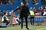 Atletico de Madrid's coach Diego Pablo Simeone during La Liga match. March 1,2016. (ALTERPHOTOS/Acero)