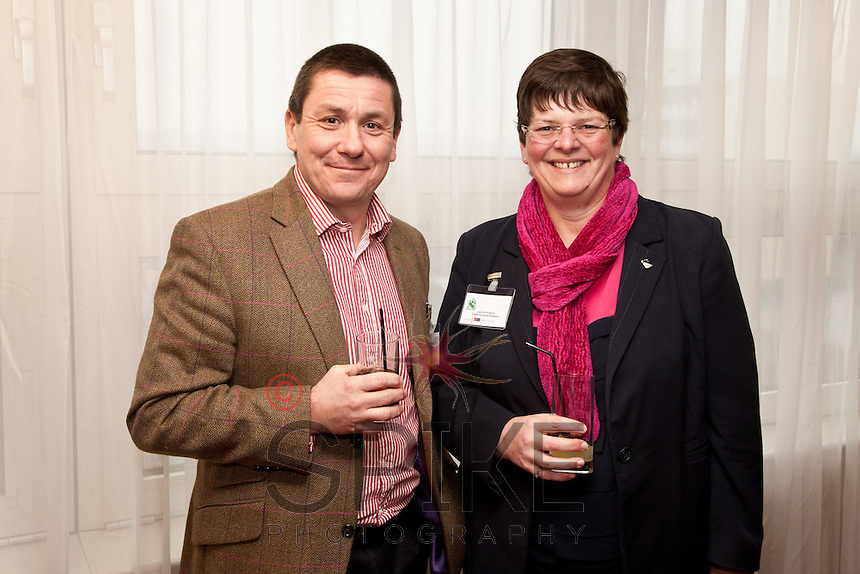 Nigel Rowlson of The Dairy with Jane Le Poidevin of Dagfa School Nottingham