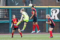 Rochester, NY - Saturday July 09, 2016: Western New York Flash midfielder Abby Erceg (6), Seattle Reign FC midfielder Kim Little (8) during a regular season National Women's Soccer League (NWSL) match between the Western New York Flash and the Seattle Reign FC at Frontier Field.
