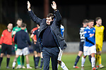 Dundee v St Johnstone…29.12.18…   Dens Park    SPFL<br />Saints manager Tommy Wright salutes the travelling fans at full time<br />Picture by Graeme Hart. <br />Copyright Perthshire Picture Agency<br />Tel: 01738 623350  Mobile: 07990 594431