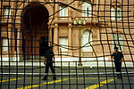 Economic Turmoil in Argentina<br /> Casa Rosada where the leaders of the nation, traditionally address the masses, is now behind metal fencing recently erected to protect it. 2000s 2002