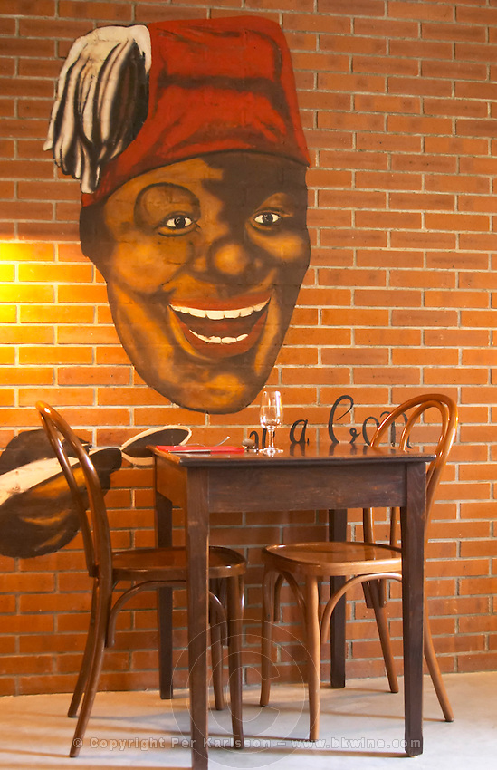 restaurant table restaurant le bistrot crozes hermitage rhone france