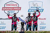 #86 Meyer Shank Racing w/Curb-Agajanian Acura NSX GT3, GTD: Mario Farnbacher, Matt McMurry, Shinya Michimi, podium
