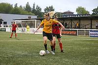 Kent FA Womens Plate Final. Maidstone United (yellow & Black) V Glebe (red & black)