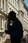 Civil Servants, outside The Foreign Office, King Charles Street Whitehall London UK 2010