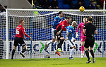 St Johnstone v Kilmarnock…24.11.18…   McDiarmid Park    SPFL<br />Joe Shaughnessy and Richard Foster block out Kris Boyd in the box<br />Picture by Graeme Hart. <br />Copyright Perthshire Picture Agency<br />Tel: 01738 623350  Mobile: 07990 594431