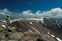 Ben Macdui, the 2nd highest mountain in Britain, from Braeriach, the 3rd highest mountain in Britain, Cairngorm National Park