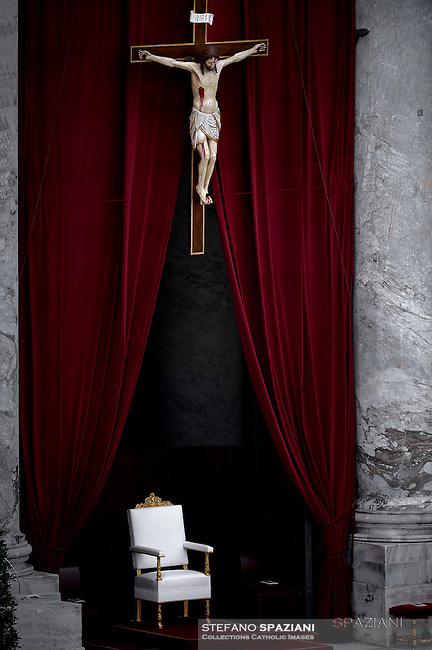 Papal Thrones;Pope Francis during Mass for sick and disabled people   at St Peter's square in Vatican on June 12, 2016.