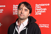 """director, Andrew Neel<br /> arrives for the """"Goat"""" screening as part of the Sundance Film Festival: London 2016 at the Picturehouse Central, London.<br /> <br /> <br /> ©Ash Knotek  D3127  03/06/2016"""