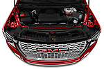 Car Stock 2021 GMC Yukon-Denali - 5 Door SUV Engine  high angle detail view