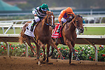 DEL MAR CA - JULY 30: Stellar Wind #2 with Victor Espinoza wins the Clement L Hirsch Stakes at Del Mar on July 30, 2016 in Del Mar, California. (Photo by Zoe Metz/Eclipse Sportswire/Getty Images)