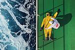 Inspection of Gas Tight Suit onboard vessal in Atlantic Ocean by Zay Yar Lin