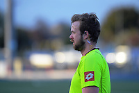 An umpire during the 2020 Lower North Island Girls Hockey Premiership tournament at Fitzherbert Park Twin Turfs in Palmerston North, New Zealand on Tuesday, 1 September 2020. Photo: Dave Lintott / lintottphoto.co.nz