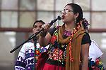 Maria de Jesus Patricio Martinez, the spokewoman of the Indigenous Government Council attends a rally in the National Autonomous University of Mexico (UNAM) campus, November 28, 2017. Patricio Martinez is collecting almost a one million signs to run for the presidency of Mexico in 2018 elections. Today is commemorated de signing of the Plan de Ayala document by Emiliano Zapata in 1911. Photo by Heriberto Rodriguez