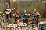 Young musicians Daragh, Sarah, Thomas and Conor Breen (Kilflynn) at the charity threshing event at the Dingle Mart on Saturday.