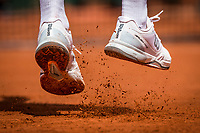 Paris, France, 28 May, 2017, Tennis, French Open, Roland Garros, tennis shoes during service on claycourtsh<br /> Photo: Henk Koster/tennisimages.com
