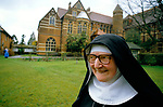 Mother Abbess Rosemary, at St Mary at the Cross, Edgware Abbey an Anglican Benedictine Community. Middlesex UK 1980s 1989.<br />