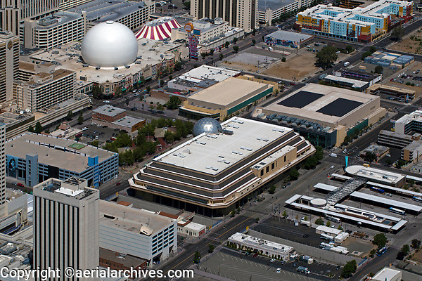 aerial photograph of the National Bowling Stadium, Reno, Washoe County, Nevada