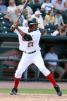 June 15th 2008:  Alfredo Silverio of the Great Lakes Loons, Class-affiliate of the Los Angeles Dodgers, during a game at Dow Diamond in Midland, MI.  Photo by:  Mike Janes/Four Seam Images