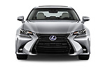 Car photography straight front view of a 2017 Lexus GS Executive-Line 4 Door Sedan Front View