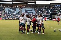 KANSAS CITY, KS - JULY 15: The United States warming up before a game between Martinique and USMNT at Children's Mercy Park on July 15, 2021 in Kansas City, Kansas.