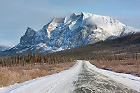 James Dalton Highway (the Haul Road) with mt Sukakpak rising in the distance.