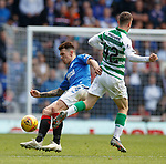 01.09.2019 Rangers v Celtic: Ryan Jack tackles Callum McGregor