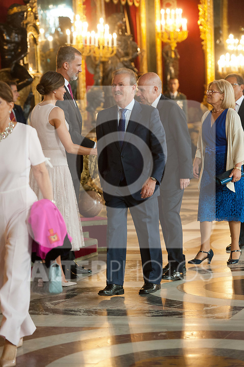 Guests attends to Sapnish National Day palace reception at the Royal Palace in Madrid, Spain. October 12, 2018. (ALTERPHOTOS/A. Perez Meca)