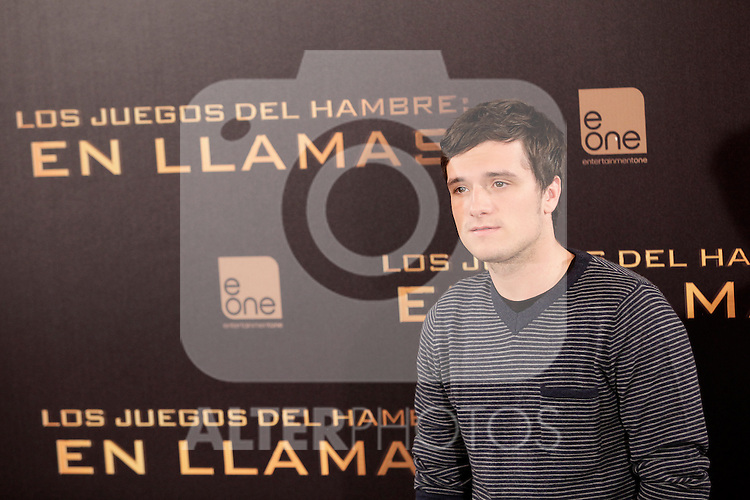 US actor Josh Hutcherson attends the Spanish photocall during the premiere of the film 'The Hunger Games: Catching Fire' (Tribute von Panem - Catching Fire) at Villamagna Hotel in Madrid, Spain. November 13, 2013. (ALTERPHOTOS/Victor Blanco)