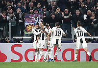 Football Soccer: UEFA Champions League -Group Stage-  Group H - Juventus vs Manchester United, Allianz Stadium. Turin, Italy, November 07, 2018.<br /> Juventus' Cristiano Ronaldo celebrates after scoring with his teammates during the Uefa Champions League football soccer match between Juventus and Manchester United at Allianz Stadium in Turin, November 07, 2018.<br /> UPDATE IMAGES PRESS