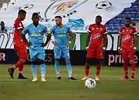 MONTERIA - COLOMBIA, 07-03-2021: Pablo Rojas de Jaguares de Cordoba F.C. durante partido entre Jaguares de Cordoba F.C. y Patriotas Boyaca F. C. de la fecha 11 por la Liga BetPlay DIMAYOR I 2021, en el estadio Jaraguay de Monteria de la ciudad de Monteria. / Pablo Rojas of Jaguares F. C. during a match between Jaguares de Cordoba F.C. and Patriotas Boyaca F. C., of the 11th date for the Betplay DIMAYOR I 2021 League at Jaraguay de Monteria Stadium in Monteria city. Photo: VizzorImage / Andres Lopez / Cont.