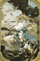 TIEPOLO, Giovanni Battista (1696-1770). Venus and Vulcan. 1762 - 1766. SPAIN. Madrid. Royal Palace. Decoration of the ceiling
