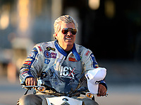 Sep 22, 2018; Madison, IL, USA; NHRA funny car driver John Force during qualifying for the Midwest Nationals at Gateway Motorsports Park. Mandatory Credit: Mark J. Rebilas-USA TODAY Sports
