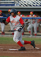 July 27, 2005:  Jonel Pacheco of the Brooklyn Cyclones during a game at Dwyer Stadium in Batavia, NY.  Brooklyn is the NY-Penn League Class-A affiliate of the New York Mets.  Photo by:  Mike Janes/Four Seam Images