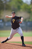 Pittsburgh Pirates pitcher Matt Eckelman (95) delivers a pitch during a minor league Spring Training game against the Philadelphia Phillies on March 24, 2017 at Carpenter Complex in Clearwater, Florida.  (Mike Janes/Four Seam Images)