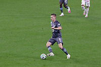ST PAUL, MN - SEPTEMBER 27: Jan Gregus #8 of Minnesota United FC passes the ball during a game between Real Salt Lake and Minnesota United FC at Allianz Field on September 27, 2020 in St Paul, Minnesota.