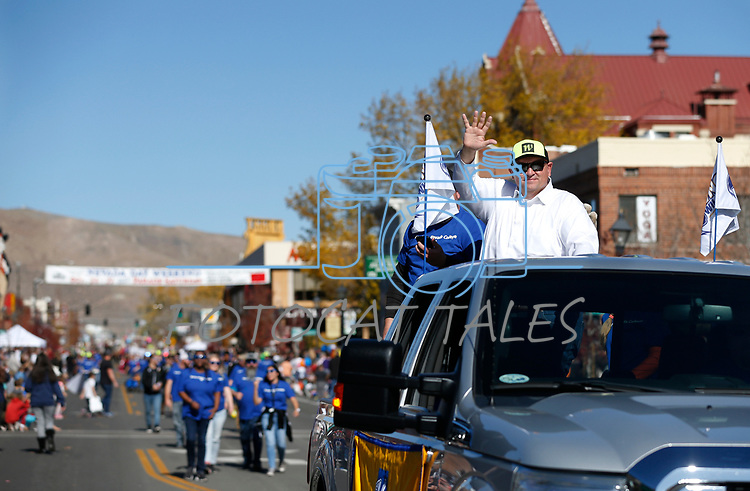Western Nevada College representatives participate in the Nevada Day parade in Carson City, Nev., on Saturday, Oct. 26, 2019.  <br /> Photo by Cathleen Allison/Nevada Momentum