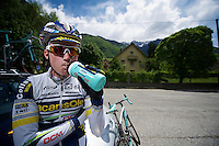 Vacansoleil-DCM Tour de France 2012 recon stage 11..Lieuwe Westra before going up the Glandon