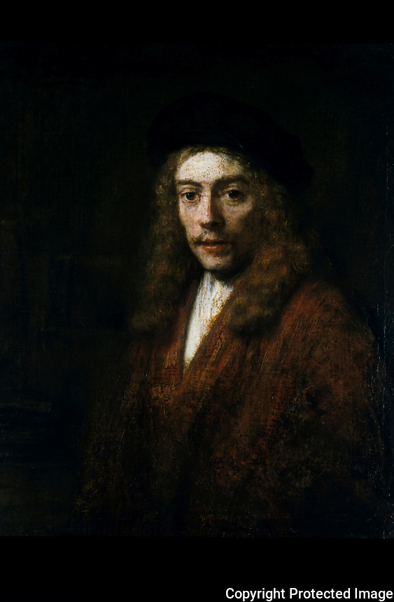 Rembrandt Van Ryn 1606-1669:  A young man, perhaps the artist's son Titus.   Dulwich Picture Gallery, 1981.  Reference only.