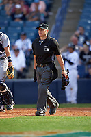 Umpire Mark Wegner during a New York Yankees Spring Training game against the Detroit Tigers on March 2, 2016 at George M. Steinbrenner Field in Tampa, Florida.  New York defeated Detroit 10-9.  (Mike Janes/Four Seam Images)