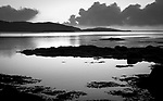Isle of Lewis and Harris, Scotland: Evening sky reflections on the bay of Luskentyre beach on South Harris Island