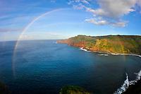 Rainbow over Honokohau Bay, Maui, Hawaii, USA
