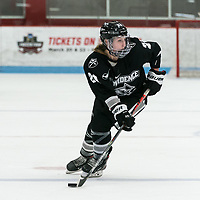 BOSTON, MA - JANUARY 11: Isabelle Hardy #21 of Providence College looks to pass during a game between Providence College and Boston University at Walter Brown Arena on January 11, 2020 in Boston, Massachusetts.