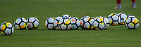 Carson, CA - Thursday August 03, 2017: NIKE balls during a 2017 Tournament of Nations match between the women's national teams of the United States (USA) and Japan (JAP) at StubHub Center.
